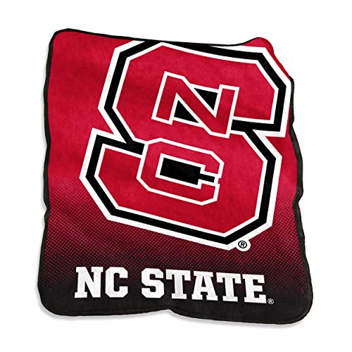 Logo Brands NCAA North Carolina State Wolfpack Unisex Raschel Throwraschel Throw, Red, N/A