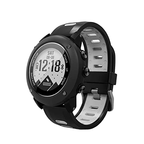 SoonCat GPS Watch for Men, Running Smart Watch All Black Military Mens Outdoor Sports Watch (Grey)