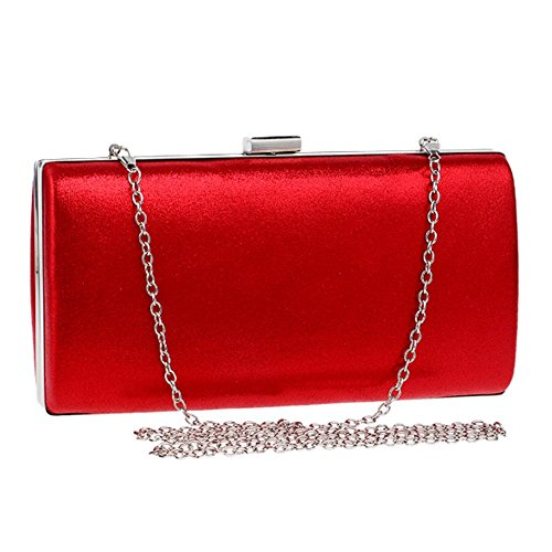 Red Women's Clutches Clutches Women's Shoulder Polyester bag Messenger bag Shoulder PxBFpUq6Fw