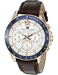 Tommy Hilfiger Mens 1791118 Sophisticated Sport Watch with Brown Leather Band