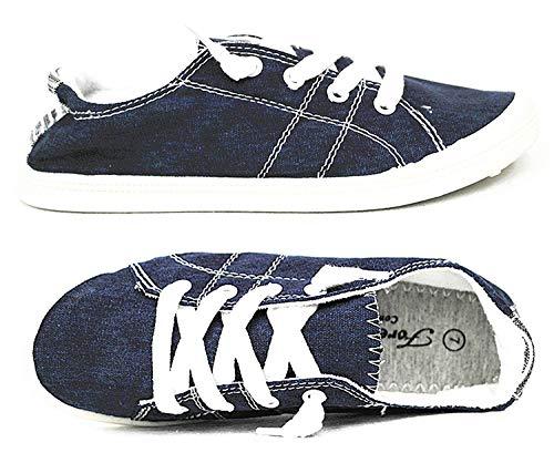 Forever Link Women's Classic Slip-On Comfort Fashion Sneaker, Navy, 10