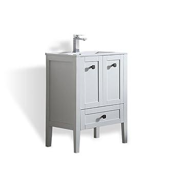 Ove Decors Andora 24 Bathroom Single Vanity In Matte White With