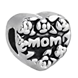 Pugster Love Mom Heart Beads Fit Pandora Charm Bracelet Gifts For Mother