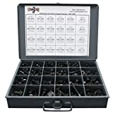 Metric Class 10.9 Hex Cap Flange Frame Bolts & Locking Flange Nuts Assortment Kit - 367 Pieces!