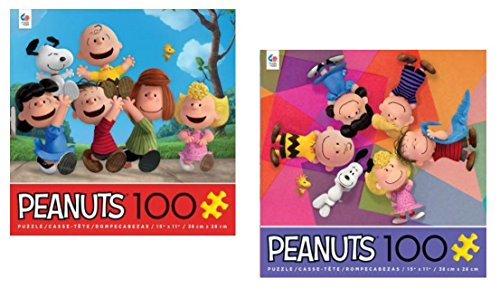 Peanuts 100 Piece Puzzle Set: - Friends and Circle of Friends