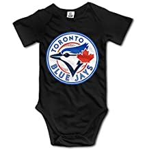 Toronto Blue Jays Black BABY Cute Short Sleeves Variety Baby Onesies Crawler For Babies Size 6 M