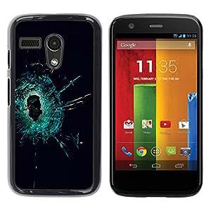 Stuss Case / Funda Carcasa protectora - The Cracked Glass - Motorola Moto G 1 1ST Gen