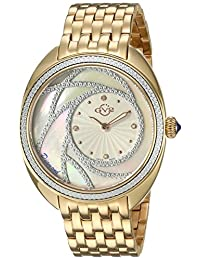 GV2 by Gevril Women's 'Ancona' Swiss Quartz and Stainless-Steel Casual Watch, Color:Gold-Toned (Model: 3702)
