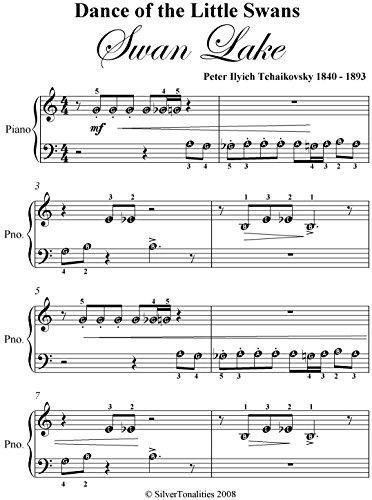 Dance of the Little Swans Tchaikovsky Beginner Piano Sheet Music