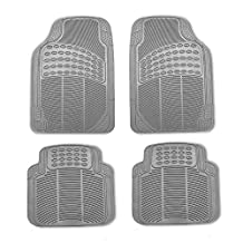 FH GROUP FH-R11305 Rubber Floor Mats Gray-Fit Most Car, Truck, Suv, or Van