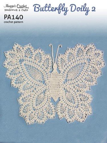 Crochet Pattern Butterfly Doily 2 PA140-R