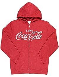 Enjoy Coke Classic Logo Graphic Mens Hoodie