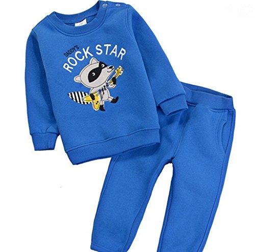 ALVA Spring cotton children sweater suit color blue track...