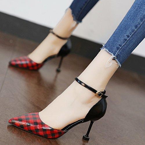 Xue Xue Xue Qiqi Court Schuhe Wild für Hoch Geschlitzt - Verfolgte Frauen Licht die Hohle Stil Rasterpunkt Einzelne Schuhe Fein mit  12b871