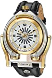 GV2 by Gevril Triton Mens Swiss Automatic Black Leather Strap Watch, (Model: 3403)
