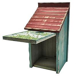 Gardirect Retro Painted Bird House, Wooden Bird Nesting Box