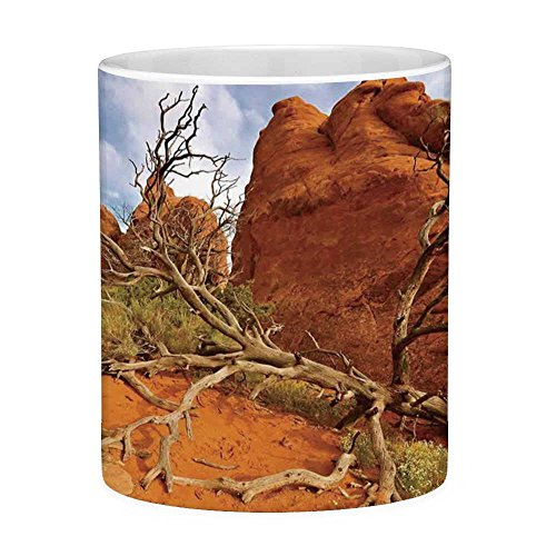 Funny Coffee Mug with Quote National Parks Home Decor 11 Ounces Funny Coffee Mug Rock on Grand Canyon Monument Valley Heart of Nature Utah Photo Orange Blue