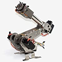 New DIY 6DOF Aluminum Robot Arm 6 Axis Rotating Mechanical Robot Arm Kit By KTOY