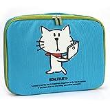 NuVur ™ Universal BONJOUR Cat with Handle Case Fits Lenovo ThinkPad S1 Yoga 20CD, Yoga 12  Blue