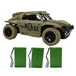 Blomiky D181 High Speed Race Toy RC Trucks 1/18 Scale 4WD Remote Control Car Vehicle 15.5MPH+ Racing Monster Electric Buggy D181 Army Green
