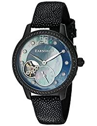 Thomas Earnshaw Men's 'Lady Australis' Automatic Stainless Steel and Leather Dress Watch, Color:Black (Model: ES-8029-09)