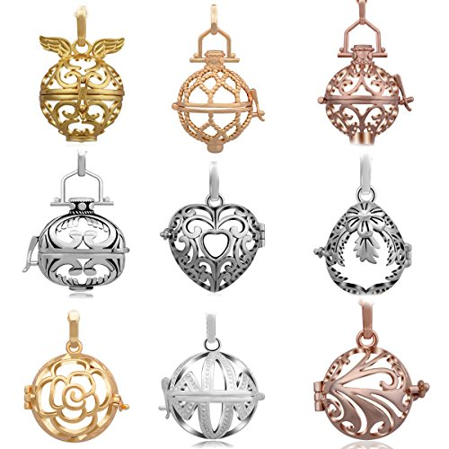Big Ball Chain (9pcs Special offer Eudora Harmony Bola Silver Plated Lockets Pendant for 20mm Chime Ball Baby Shower Gift)