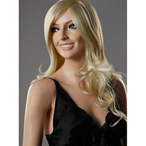 HSG Cospaly Long Curly Blonde Wavy Wigs for Women