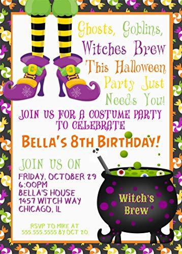 Amazon Kids Halloween Birthday Party Invitations Costume Invitation With Envelopes Handmade