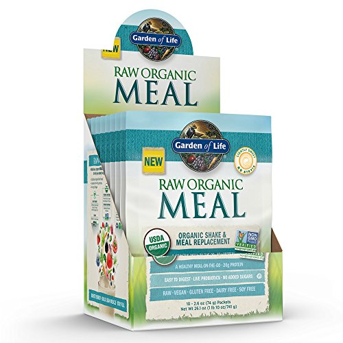 Garden Of Life Meal Replacement Organic Raw Plant Based Protein Powder Vanilla Vegan Gluten