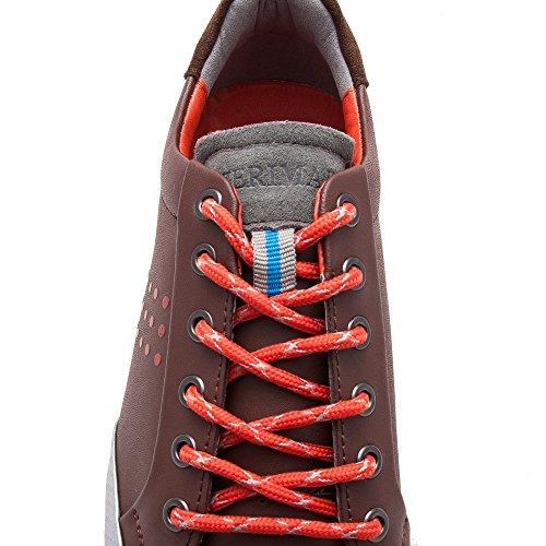 Zerimar Comode Scarpe Da Golf In Pelle Unisex Per Uso Sportivo O Casual Qualità Garantita Colore Marrone Marrone