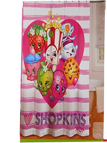 Shopkins Shower Curtain Kids Bathroom 72x72