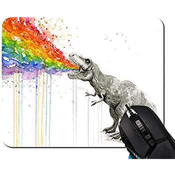 Dinosaur Mouse Pad Anti-Slip Personalized Rectangle Gaming Mouse Pads Size:9.4 x7.9 RB198