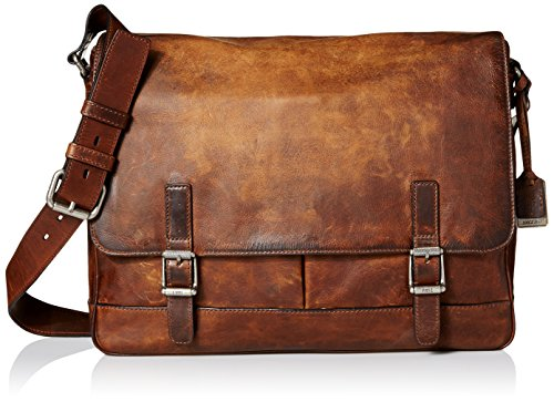 FRYE Men's Oliver Messenger, Dark Brown, One Size by FRYE