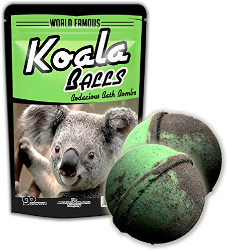 Koala Balls Bath Bombs - Koala Bath Bombs Funny Koala Gifts for Girls Koala Friend Gifts for Women Weird Bath Gifts Stocking Stuffers for Kids Fun White Elephant Ideas Secret Santa Gifts