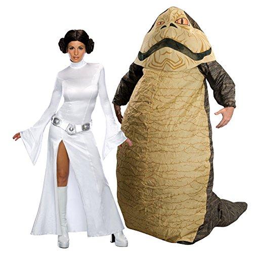 Star Wars Secret Wishes Leia Slavegirl Adult S Costume Bundle Set ()