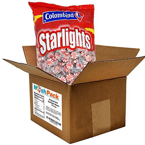 Nosh Pack Peppermint Starlight Mints Individually Wrapped Candy 5 Pounds Approx. 400 Mints by NOSH PACK (Image #2)