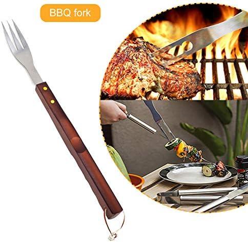 ZQDL Ensemble d'outils de barbecue pour barbecue, 8 pièces et ensemble de barbecues de cuisine avec tablier portable en acier inoxydable