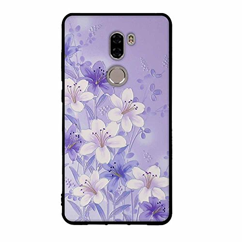 Funda Xiaomi Mi 5s Plus, FUBAODA [Flor rosa] caja del teléfono elegancia contemporánea que la manera 3D de diseño creativo de cuerpo completo protector Diseño Mate TPU cubierta del caucho de silicona  pic: 06