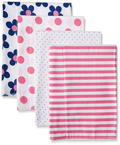 gerber-baby-girls-4-pack-flannel-burp-cloths-flower-20-x-14