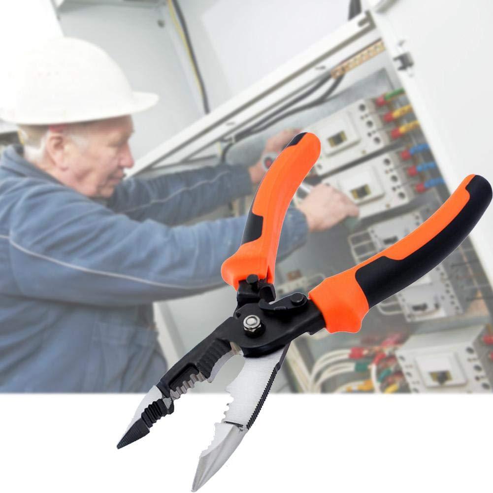Eruditter 5/en 1/Pelacables de 8/Pulgadas Electricistas Alicate Pelacables Crimpadora Multi Funci/ón de Cable Alambre Schneider
