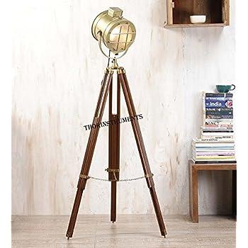 Nauticalmart Adjustable Tripod Spotlight Floor Lamp