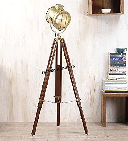 Movie Spotlight Floor Lamp Sealight Theater Lamps Tripod Wooden Home