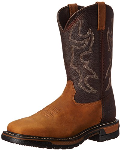 Rocky Men's 11 Inch Original Ride W037 Western Boot,Saffron Brown/Bridle Brown,15 M US