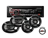 Pioneer DEH-150MP Single Din CD Player with one pair of TS-165P 6.5'' and one pair of TS-695P 6x9'' Car Speakers with a FREE SOTS Air Freshener