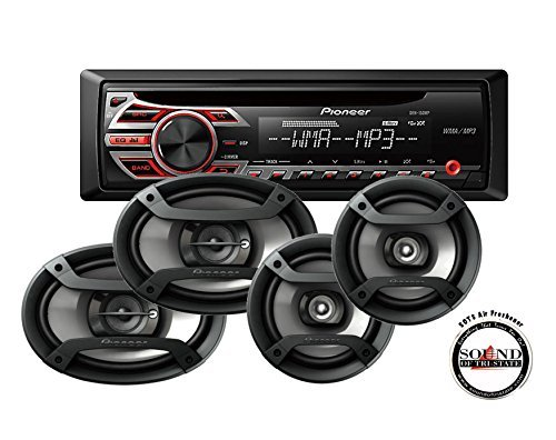 "Pioneer DEH-150MP Single Din CD Player with one pair of TS-165P 6.5"" and one pair of TS-695P 6x9"" Car Speakers with a FREE SOTS Air Freshener"
