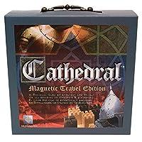 Juego de mesa portátil de estrategia de viaje de madera de Cathedral