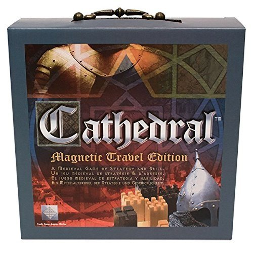 Family Games Cathedral Wood Portable Travel Strategy Board Game by Family Games