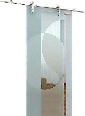 Herraje para Puerta Corredera Kit 3.3ft-12ft Puerta corrediza de vidrio Carril de riel colgante