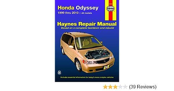 99 1999 Honda Odyssey owners manual