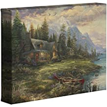 """Thomas Kinkade Studios A Father's Perfect Day 8"""" x 10"""" Gallery Wrapped Canvas"""